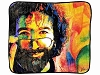 Jerry Garcia - Nude Fleece Throw Blanket