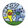 Grateful Dead - Dancing Bears Music Notes Button