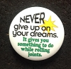 Never Give Up On Your Dreams Button
