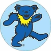 Grateful Dead - Blue on Blue Dancing Bear Button