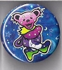 Grateful Dead - Stars & Moon Dancing Bear Button