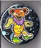 Grateful Dead - Sun & Sky Dancing Bear Button