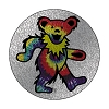 Grateful Dead - Glitter Tie Dye Bear Button