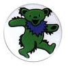 Grateful Dead - Green Dancing Bear Button