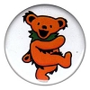 Grateful Dead - Orange Dancing Bear Button