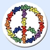 Grateful Dead - Bears Peace Button