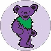 Grateful Dead - Purple Dancing Bear Button