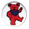 Grateful Dead - Red Dancing Bear Button