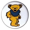 Grateful Dead - Yellow Dancing Bear Button