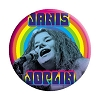 Janis Joplin - Rainbow Button