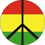 Rasta Peace Button