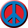 Red & Blue Peace Button