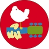 Woodstock Festival Pin Back Button