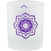 Etched Glass Lotus Votive Candle Holder