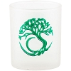 Etched Glass Tree of Life Votive Candle Holder