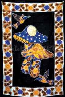 Celestial Mushroom Tapestry