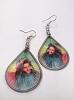 Bob Marley - Rasta Tam Threaded Earrings