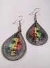 Bob Marley - Tri Color Rasta Earrings