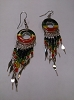 Glass Bead Rasta Dreamcatcher Earrings