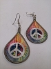 Tie Dye Peace Earrings