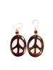Peace Sign Bone Earrings