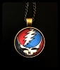 Grateful Dead - Steal Your Face Glass Photo Necklace