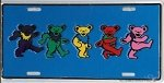 Grateful Dead - Dancing Bears License Plate