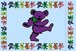 Grateful Dead - Dancing Bear Pillowcase