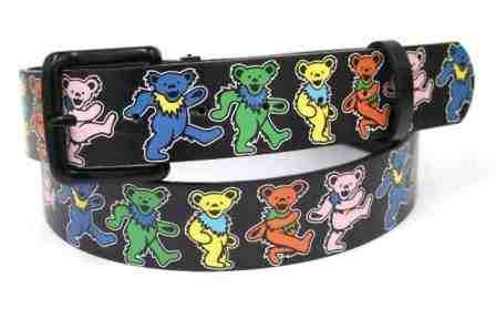 Grateful Dead Dancing Bears Leather Belt