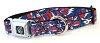 Grateful Dead - Steal Your Face Dog Collar Red, White & Blue