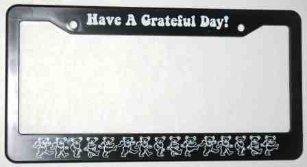 Car Tag Frame 6 x 12 with 4 Holes Grateful Dead Dancing Bears and Terrapin Decorative License Plate Holder