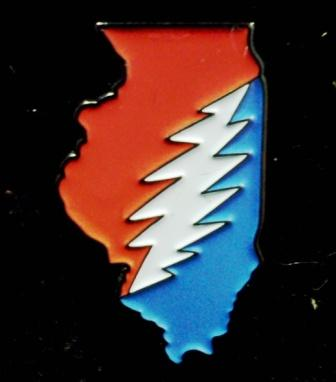 Illinois Deadhead Pin