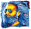 Jerry Garcia -  Desert Face Sticker