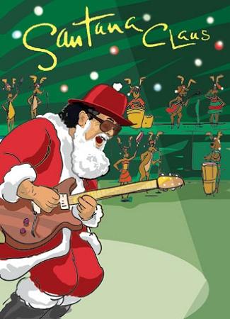 Santana Claus Christmas Card
