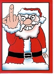 Finger Santa Christmas Card