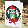 Grateful Dead - Holiday Owl Greeting Card