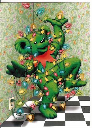 Grateful Dead Dancing Bear Christmas Card From
