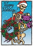 Grateful Dead - Skeleton Holiday Card