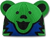 Grateful Dead - Dancing Bear Green Knit Beanie Hat