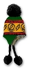 Grateful Dead - Rasta Steal Your Face Knit Flap Hat