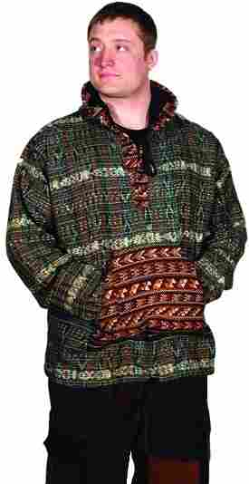 Guatemalan Pullover Patchwork Hoodie