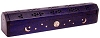 Violet Coffin Incense Burner and Storage Box
