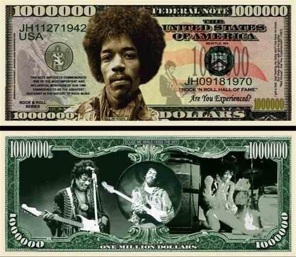 MONEY 25-John Lennon Beatles  Dollar Bills-Novelty Collectible L1 Music