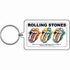 Rolling Stones - Multi Color Tongues Keychain