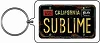Sublime - License Plate Keychain