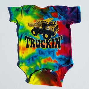 Truckin Baby esie on sale at SunshineDaydream Biz