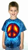 Blue Peace Youth Tie Dye T-Shirt