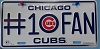 #1 Chicago Cubs Fan License Plate