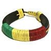 Leather Reggae Rasta Bracelet