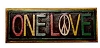 One Love Hand Painted Wood Plaque